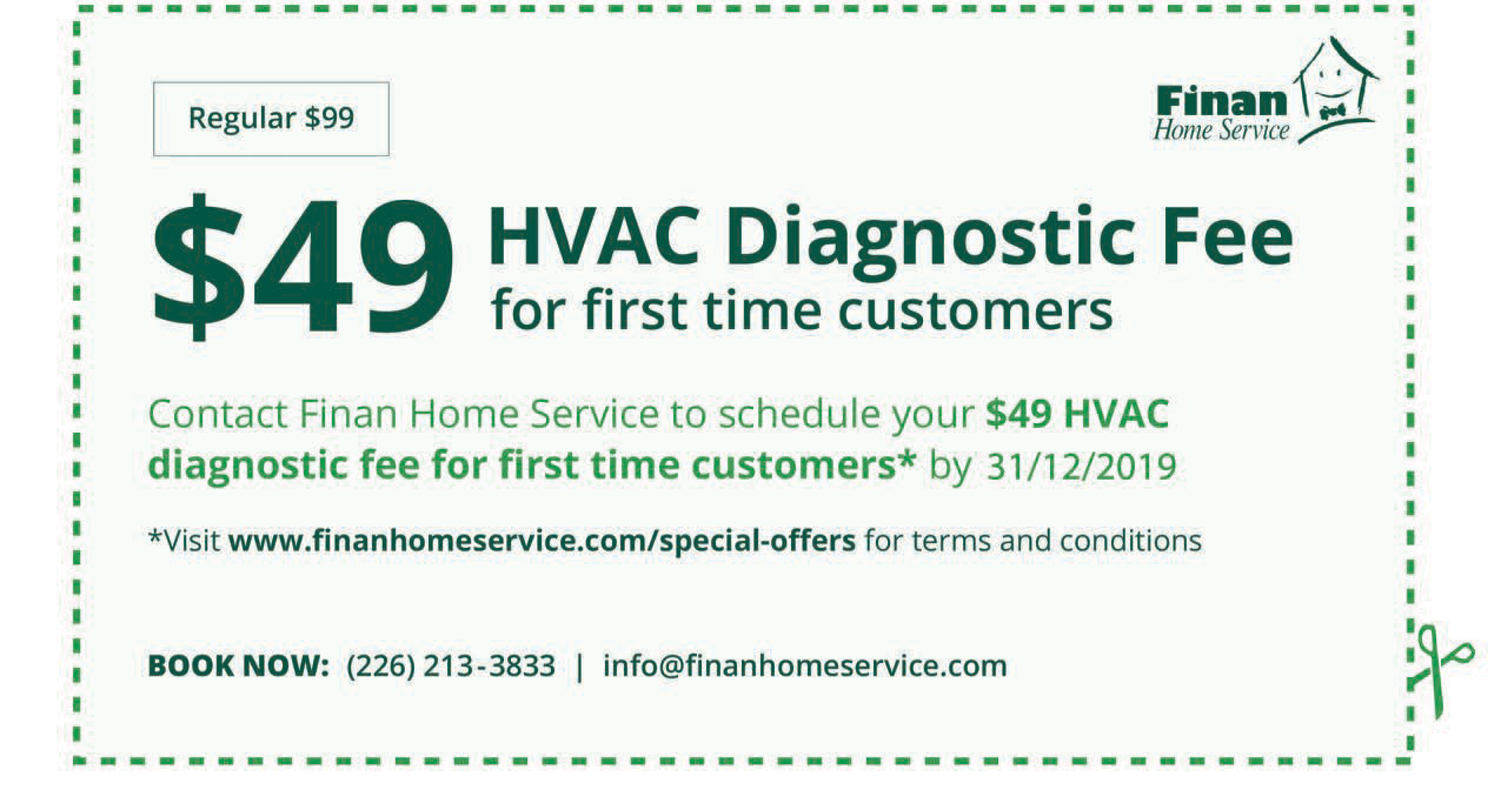 $49 HVAC Diagnostic Fee For First Time Customers