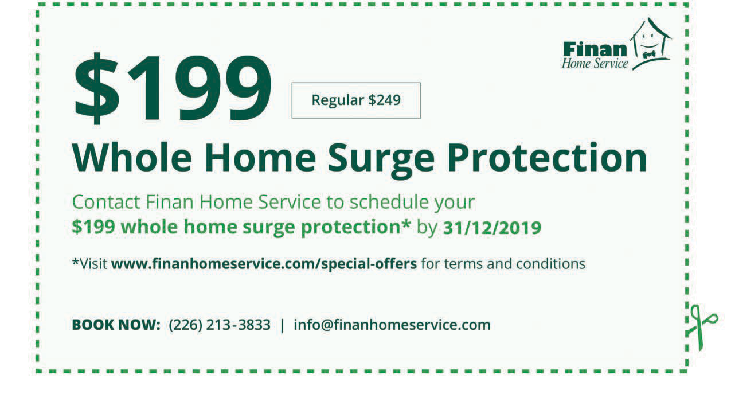 $199 Whole Home Surge Protection