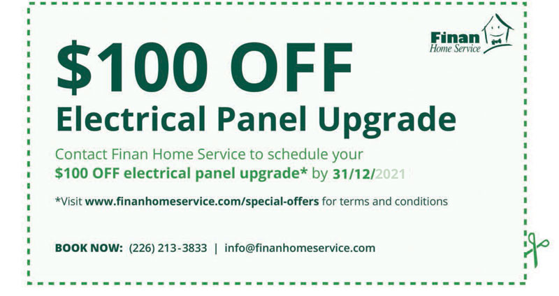 $100 off Electrical Panel Upgrade