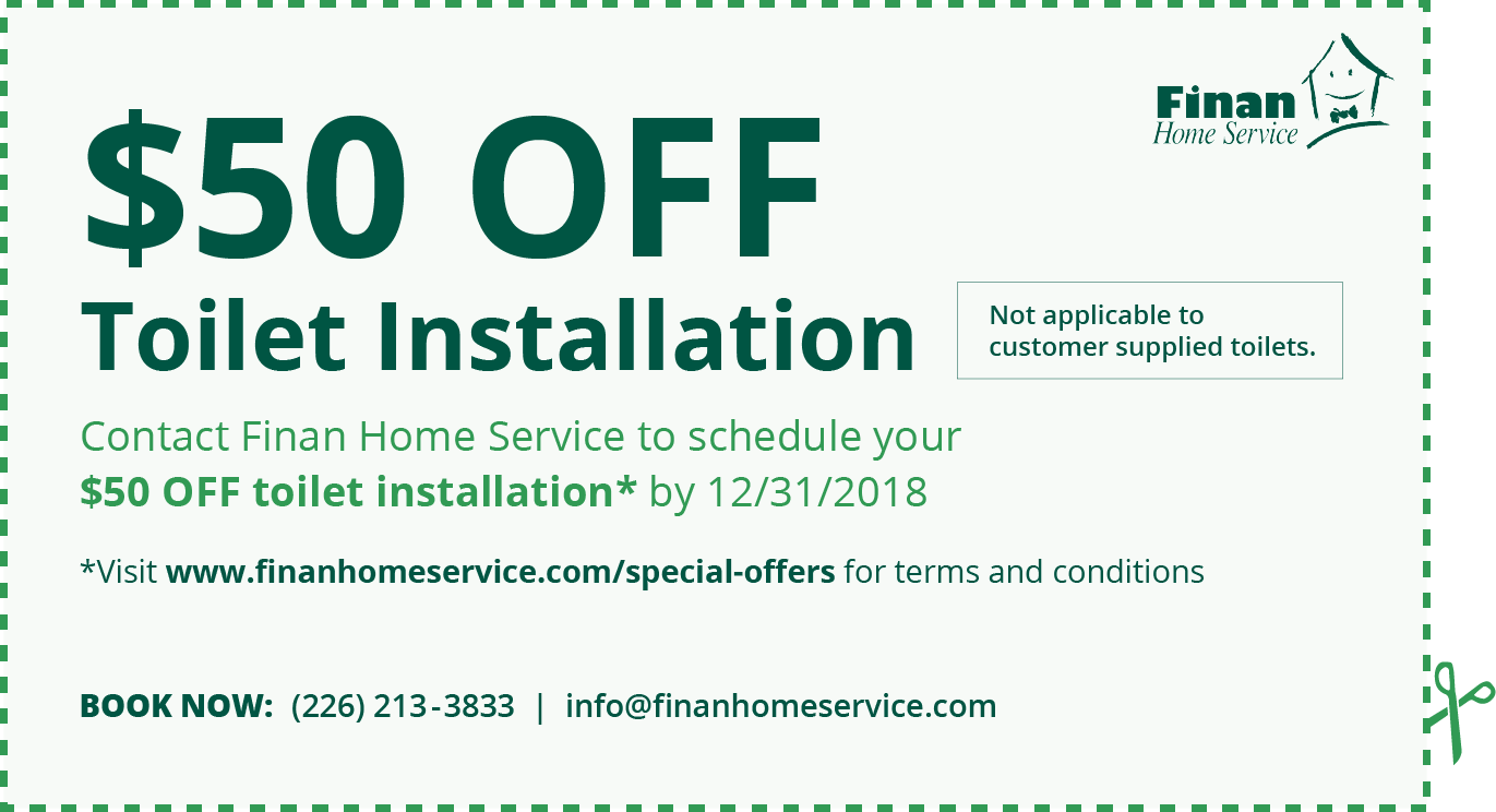 $50 Off Toilet Installation