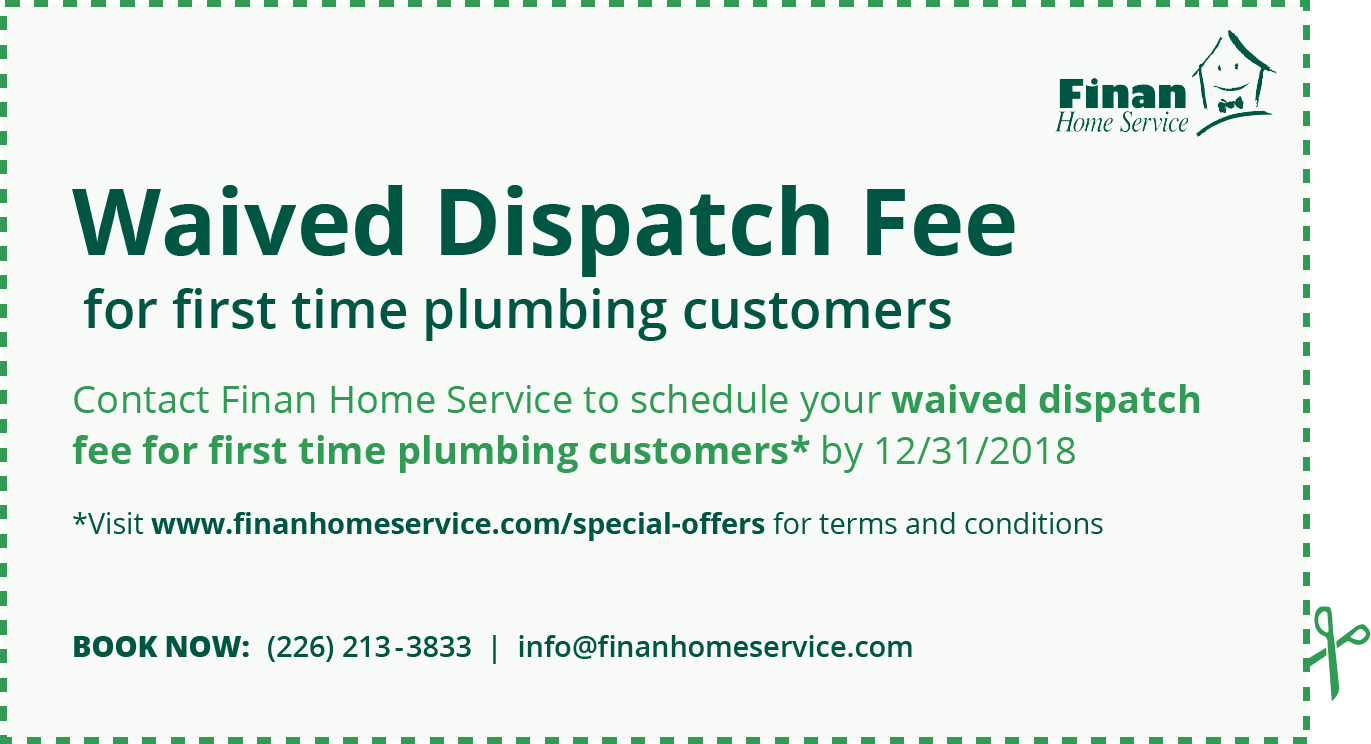 Finan Home Service Coupon Waived Dispatch Fee Plumbing
